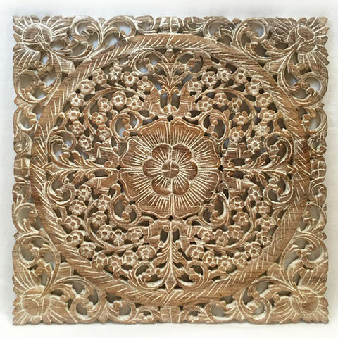 White Wood Wall Decor oriental hand carved wood wall plaques. wall sculptures. – asiana