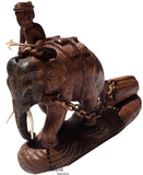 Elephant Carved Wood Table Centerpiece Asian Home Accent.