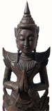 Clearance Sawaddee Welcome Asian Statue Carved Wood. Available in Brown and Dark Brown