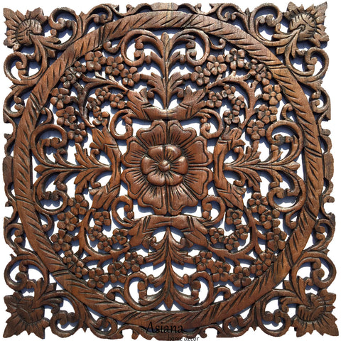 Wooden Wall Art For Sale Oriental Carved Wood Wall Plaquesunique Floral Wood Wall Art