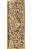 "Floral Wood Carved Wall Panel.  Tropical Floral Wood Carved Wall Panel Home Decor. 35.5""x13.5"" Color Options Available"