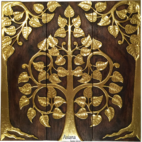Create Accent Wall With Wood Panel India: Elegant Wood Carved Wall Plaque.Floral Wood Wall Panels