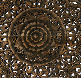 "Elegant Medallion Wood Carved Wall Art Panel. Bali Rustic Home Decor Wall Art. Asian Home Decor Wall Panels Size 48"" Color Options Available"