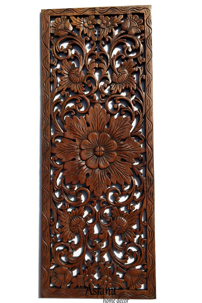 White Carved Wood Wall Decor