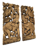 Rustic home decor carved wood wall decor