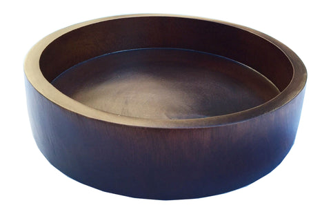 Brilliant Clearance Large Wooden Bowl Serving Salad Bowl Decorative Bowl Centerpiece 12X3 5 Available In Dark Brown And Golden Oak Gmtry Best Dining Table And Chair Ideas Images Gmtryco