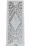"Floral Wood Carved Wall Panel. Wall Hanging. Decorative Contemporary Wall Panel. 35.5""x13.5""x0.5"" Color Option Available"