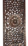 "Floral Wood Carved Wall Panel. Rustic Home Decor Carving Wood Plaque. Window Screen. Color Options Available, 35.5""x13.5""x0.5"""