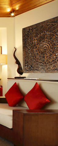 Asian Wood Wall Panels  Hand Carved Wall Art Decor  Unique Home ...