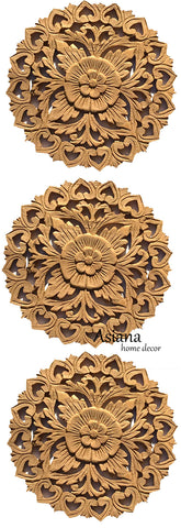 DIY raw round carved wood no paint
