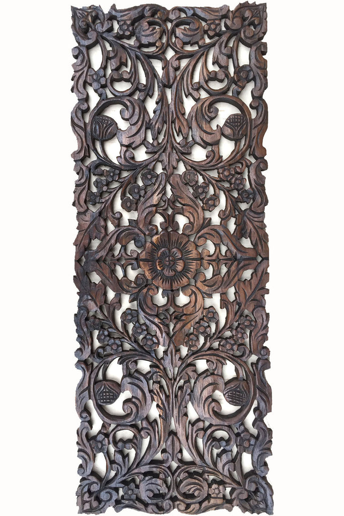 Asian Home Decor Wall Hanging. Decorative Headboard Relief Panel