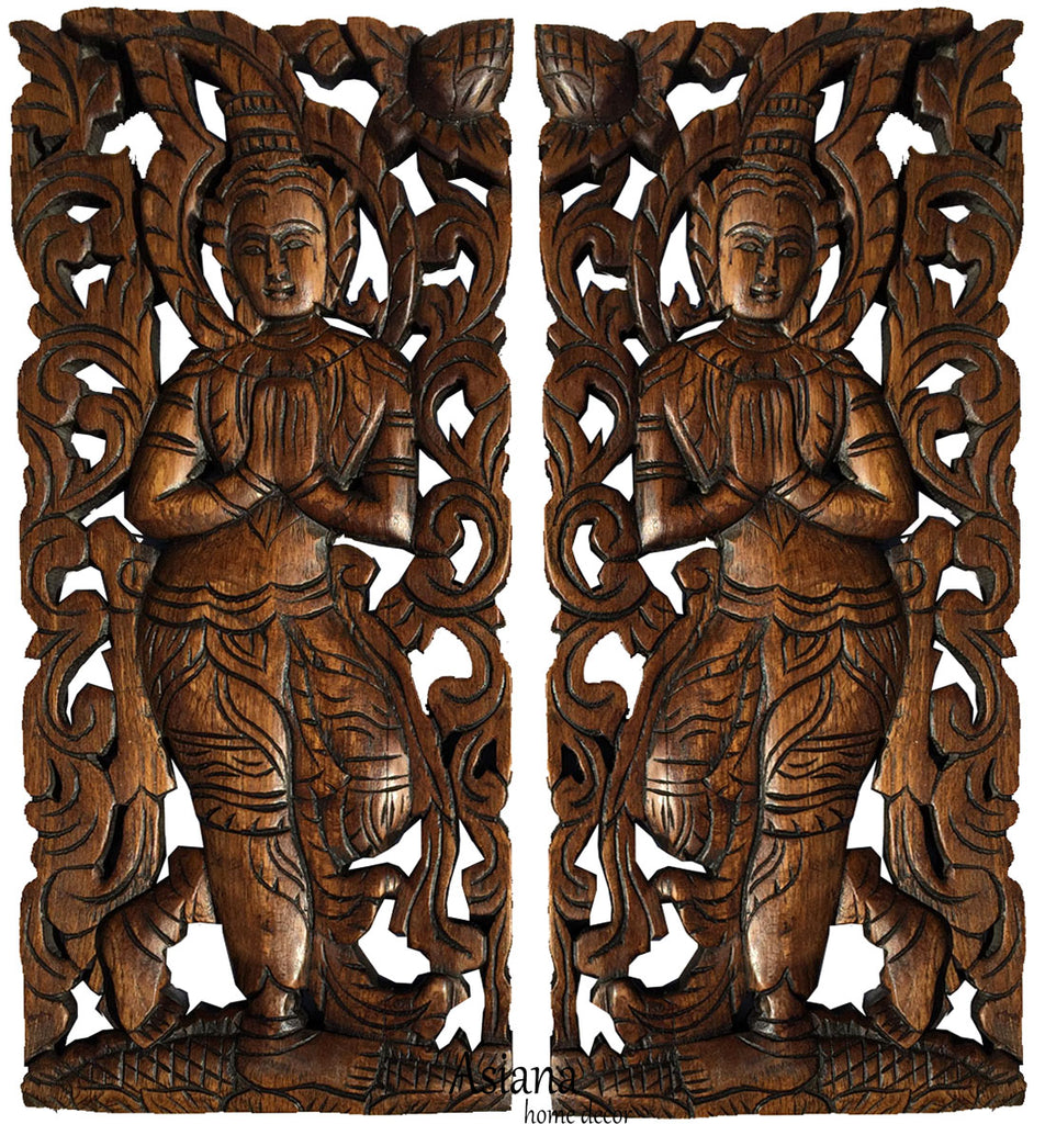 Thai wood carving oriental home decor rved panels