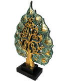 Centerpiece Accent Home Decor Carved Wood Tree Statue with Stand
