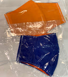 Kids Blue on One Side & Orange on Other Side Reversible Mask