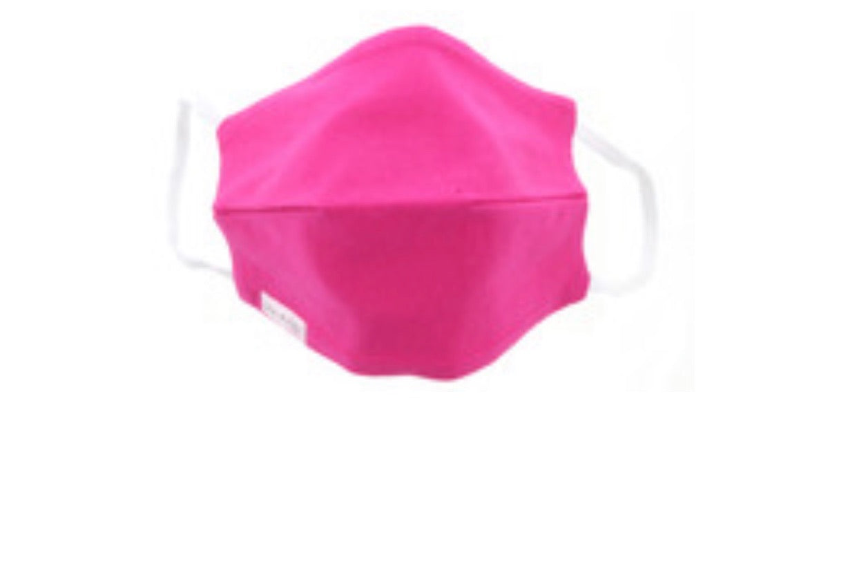 Ladies Hot Pink Cotton Mask