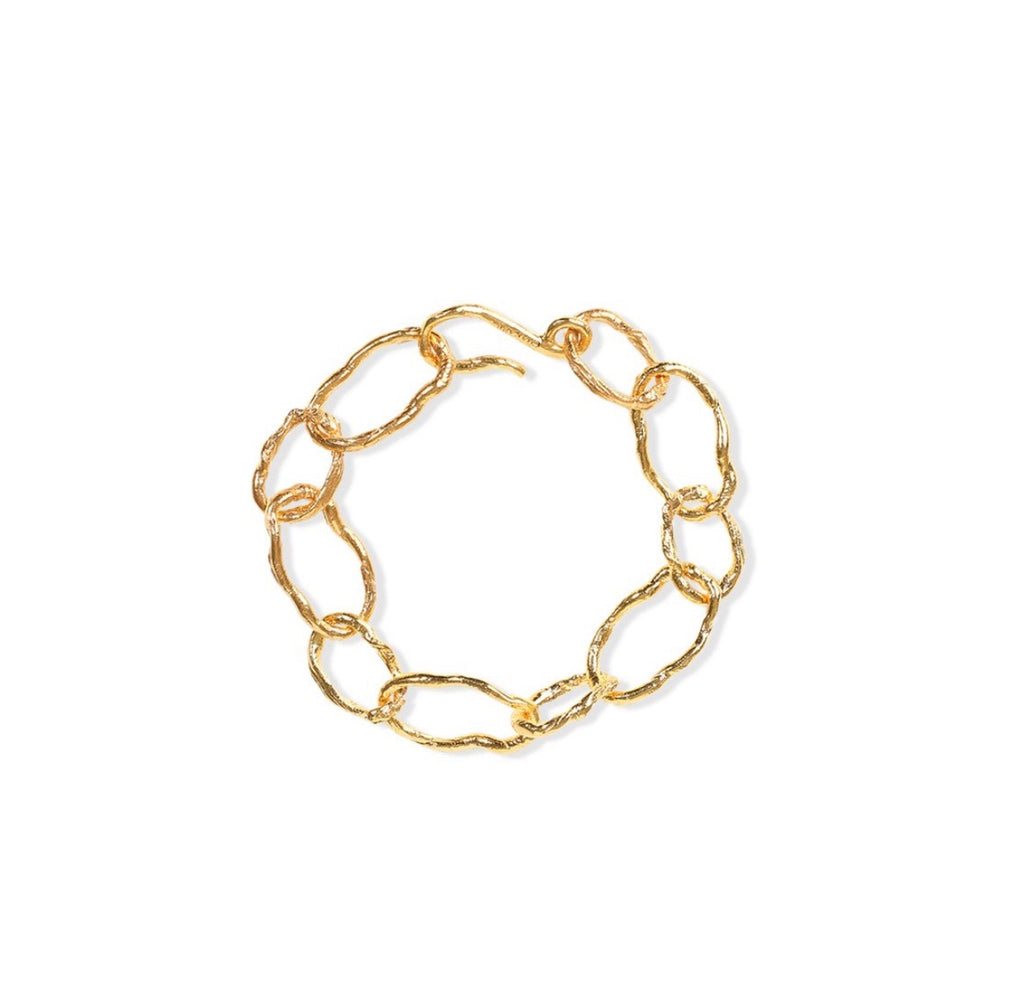 24Kt Gold Plated Lion Chain Bracelet
