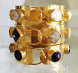 18kt Gold Byzantine Bangle
