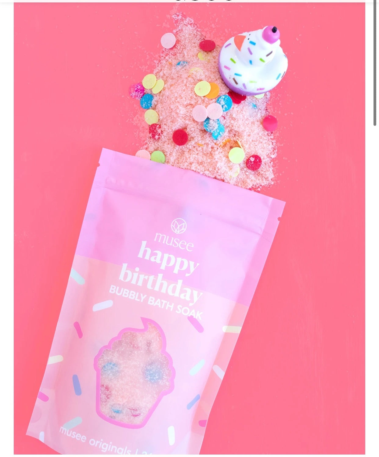 Musee Large Bag of Happy Birthday Cotton Candy Bubbly Bath Soak