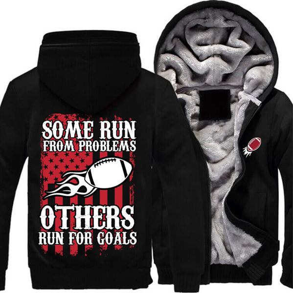 American Football Fan JACKET! - Run For Goals - ON SALE- Free Shipping