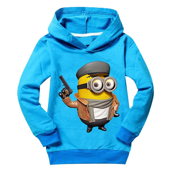 Funny minions kids t shirts top tees long sleeve 2-9 Years | Tees