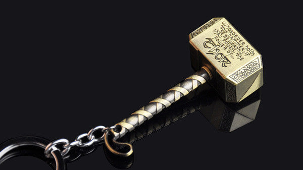 2 Colors Key Chains Accessory Thor Hammer Type Metal KeyChain For Avengers Mjolnir Figure 2015 hoe sale | Key Chains