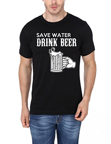 Mopixie Men's Short Sleeve T-Shirt Save Water Drink Beer
