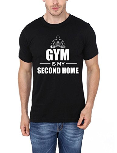 Mopixie Men's Short Sleeve T-Shirt Gym Is My Second Home