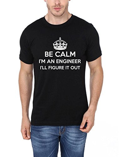 Mopixie Men's Short Sleeve T-Shirt Be Calm Im An Engineer
