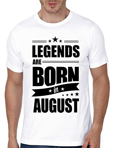Mopixie Legends Are Born In August Funny Birthday Gift Short Sleeve T-Shirt New Men's Fashion Black T Shirt Hip Hop Tees Tops