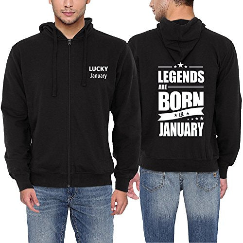 Men Print zipper Hoodie Legends Are Born In January Hoodies Funny Birthday Gift Dad Son Brother Husband Coat Jacket Sweatshirt