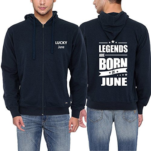 Legends Are Born In June Coat Funny Birthday Dad Gift Fashion Men's Hoodies Cool Hooded Cotton Zipper Sweatshirt