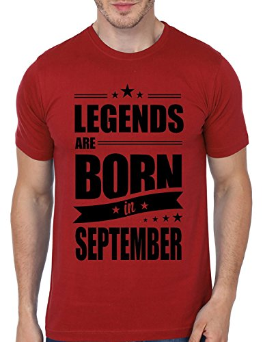 Mopixie Men'S T-shirt Legends Are Born In September Funny Birthday Gift Design Men'S 100% Cotton Short Sleeve Tees Tops T Shirts
