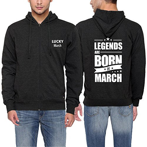 Men Fashion Hoodies Legends Are Born In March Funny Birthday Gift Hooded Sweatshirt Men's Cotton Coat