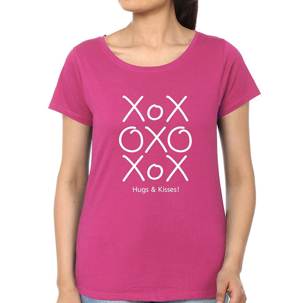 Crazy Tshirts For Womens XOXO Script Cute Valentines Day Hugs and Kisses T Shirt For Ladies