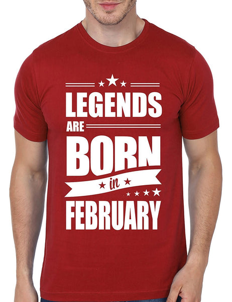 Mopixie 2017 New Casual Legends Are Born In February Funny Birthday Gift Printed Short Sleeve Tees Men Fashion Cotton T-Shirt Tops