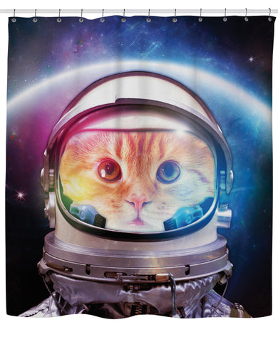 Space Cat Shower Curtain | Shower Curtains