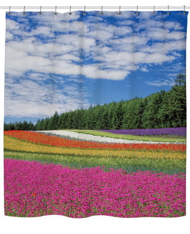 Rainbow Flowers Shower Curtain | Shower Curtains
