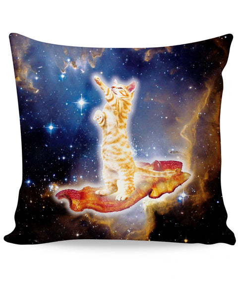 Bacon Cat Couch Pillow | Pillows