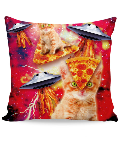 Bacon Pizza Space Cat Couch Pillow | Pillows