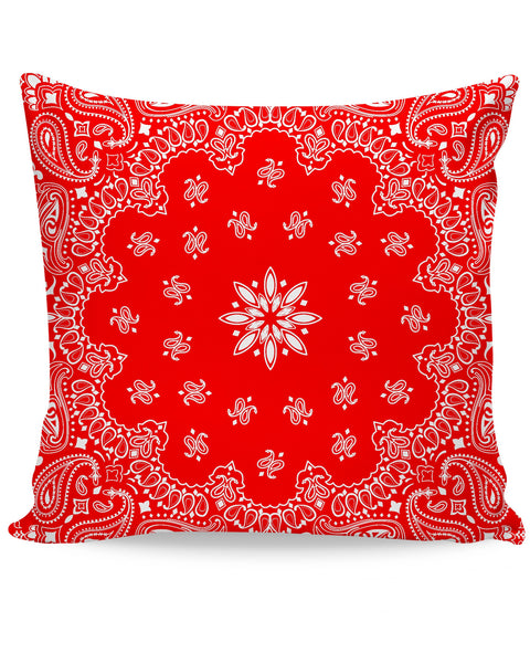 Red Bandana Couch Pillow | Pillows