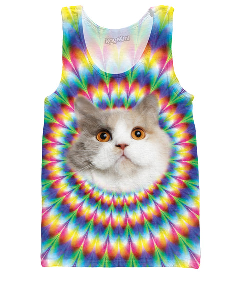 Cat Into the Rainbow Tank Top | Tank Tops