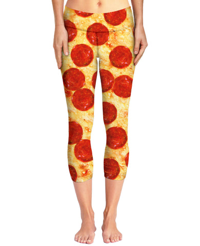 Pizza Capri Yoga Pants | Yoga Pants