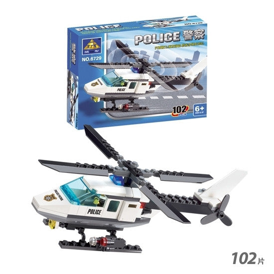 Building Block Sets Kazi 6729 Police Helicopter 102pcs Compatible with Lego Toys Educational Assemblage Bricks Toys For Children | Building Blocks
