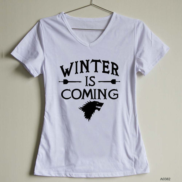 Fashion Women T Shirt Game of Thrones Female V Neck t-shirts Short Sleeve Casual Tee | Tees
