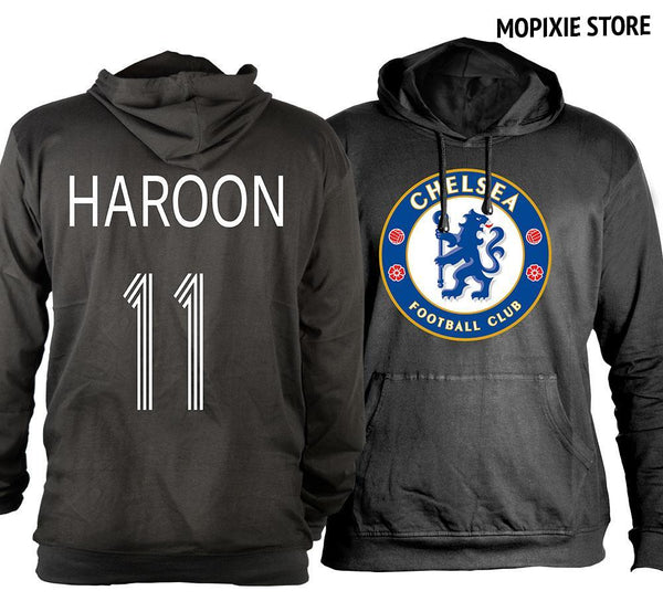 HAROON 11 Chelsea Football CLUB Hoodie T shirt Personalized Printed Unisex Sweatshirt