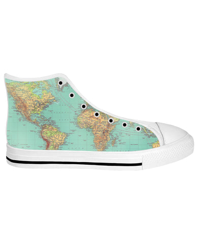 Map White Sole High Tops | Shoes HighTop WhiteSole