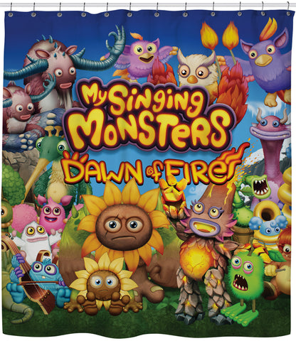 My Singing Monsters: Dawn of Fire Shower Curtain | Shower Curtains