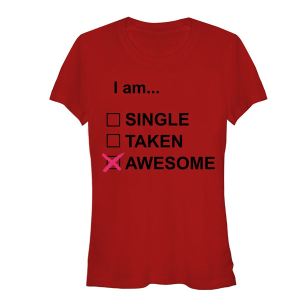 Valentine's Day I Am Awesome Juniors Graphic T Shirt | Tees
