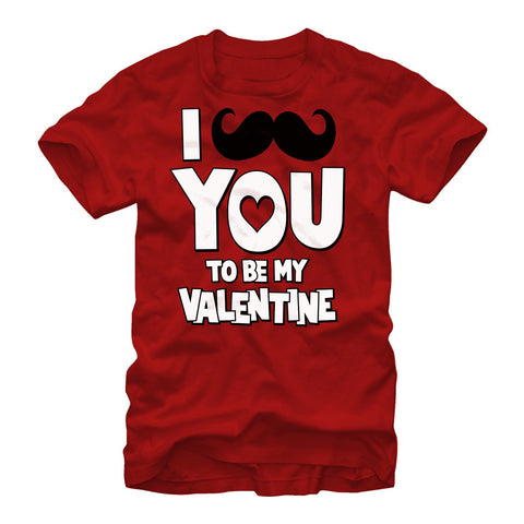 Valentine's Day I Mustache You To Be My Valentine Mens T Shirt | Tees
