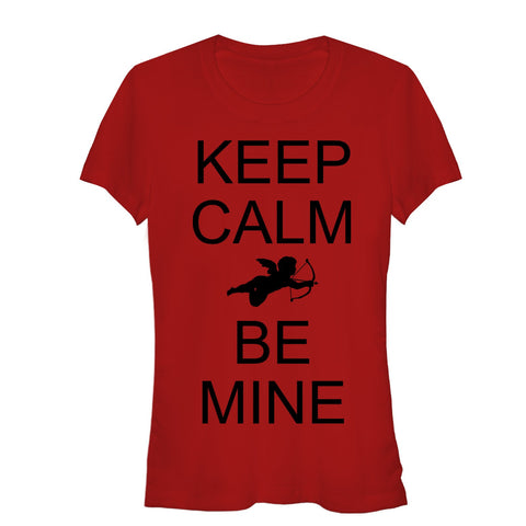 Valentine's Day Keep Calm Be Mine Juniors Graphic T Shirt | Tees